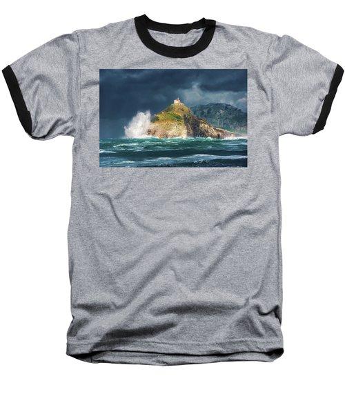 Big Waves Over San Juan De Gaztelugatxe Baseball T-Shirt