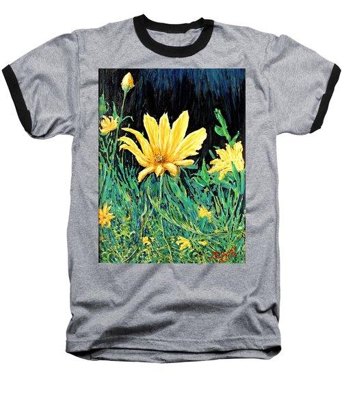 Baseball T-Shirt featuring the painting Big Yellow by Ian  MacDonald