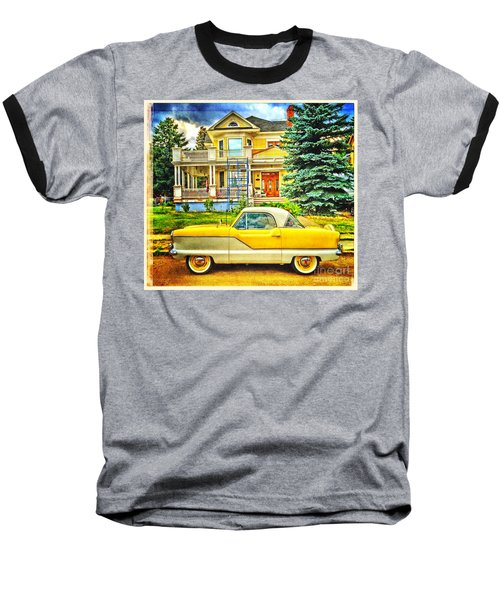 Baseball T-Shirt featuring the photograph Big Yellow Metropolis by Craig J Satterlee