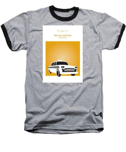 Baseball T-Shirt featuring the drawing Big Yellow Taxi -- Joni Michel by David Davies