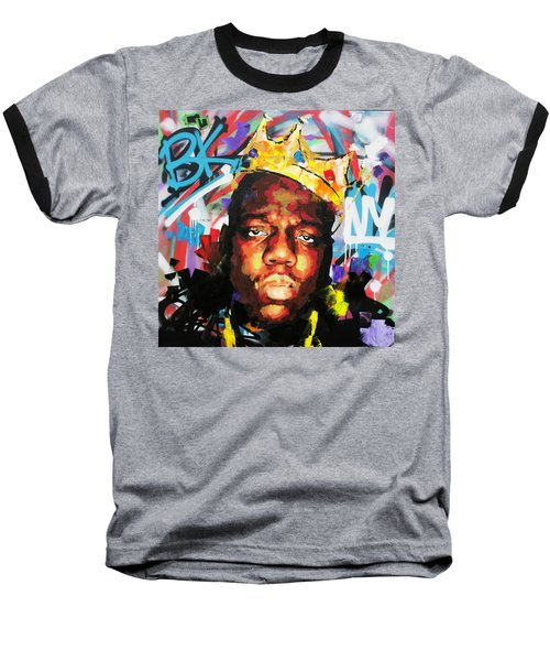 Baseball T-Shirt featuring the painting Biggy Smalls IIi by Richard Day