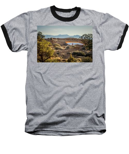 Bighorn Sheep And Mesa Arch Baseball T-Shirt