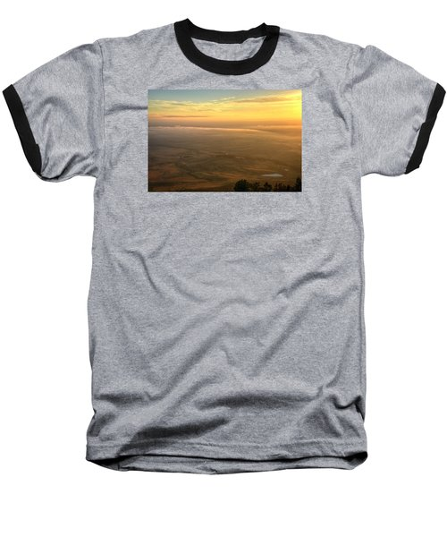 Bighorn Sunrise Baseball T-Shirt by Fiskr Larsen