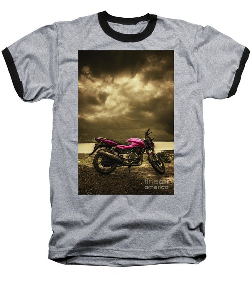 Bike Baseball T-Shirt by Charuhas Images