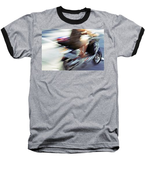 Bike In Motion Baseball T-Shirt