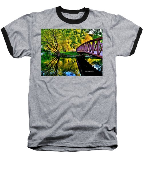 Bike Path Bridge Baseball T-Shirt