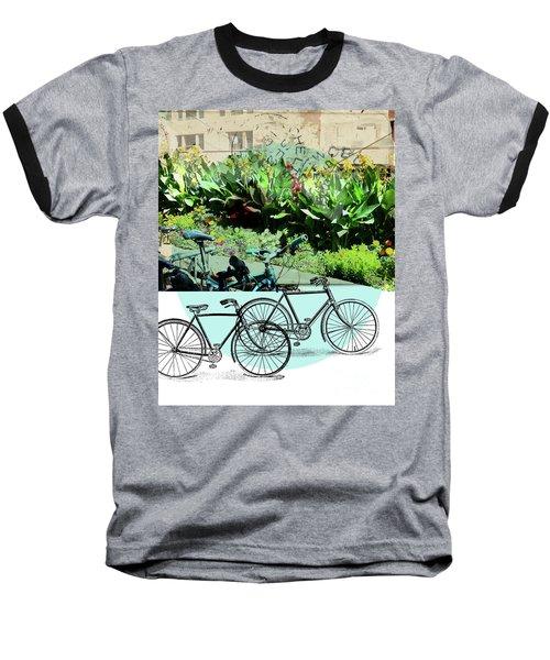 Bike Poster Baseball T-Shirt by Deborah Nakano