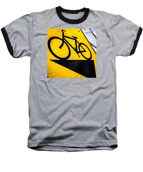 Bike Sign Baseball T-Shirt by Wade Brooks