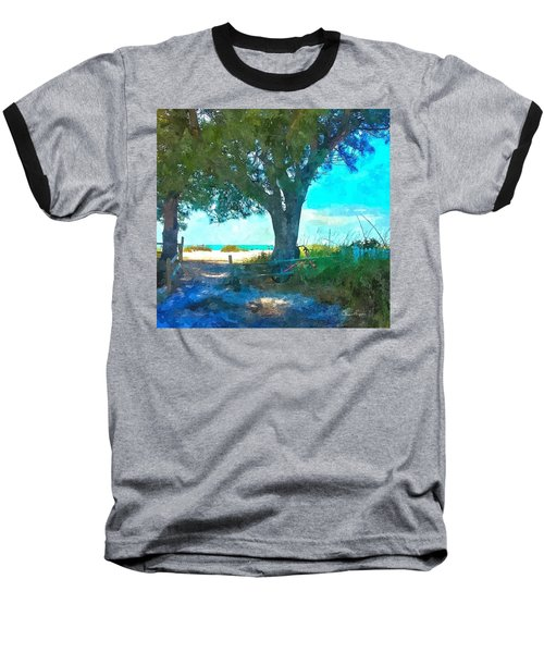 Bike To The Beach Baseball T-Shirt