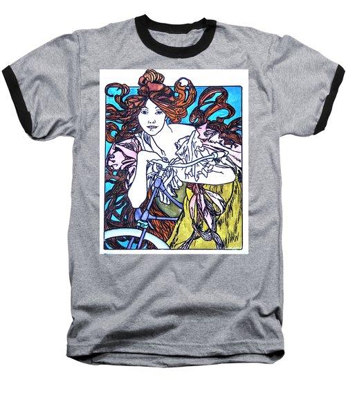Biker Girl Baseball T-Shirt