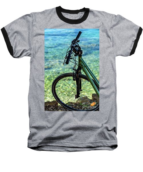 Biking The Rovinj Coastline - Rovinj, Istria, Croatia Baseball T-Shirt