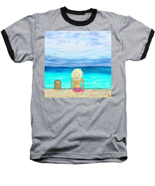 Bikini On The Pier Baseball T-Shirt