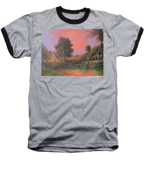 Bilbo's Eleventy-first Birthday Party Baseball T-Shirt by Joe  Gilronan