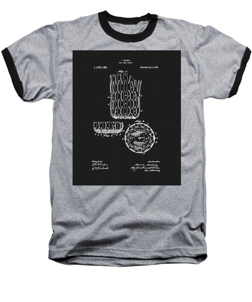 Baseball T-Shirt featuring the mixed media Billiards Table Pocket Patent by Dan Sproul