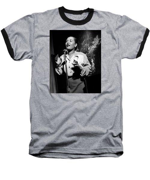 Billie Holiday  New York City Circa 1948 Baseball T-Shirt by David Lee Guss