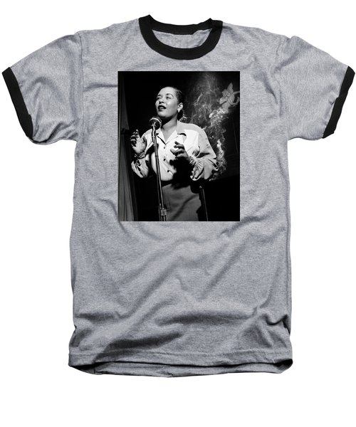 Billie Holiday  New York City Circa 1948 Baseball T-Shirt