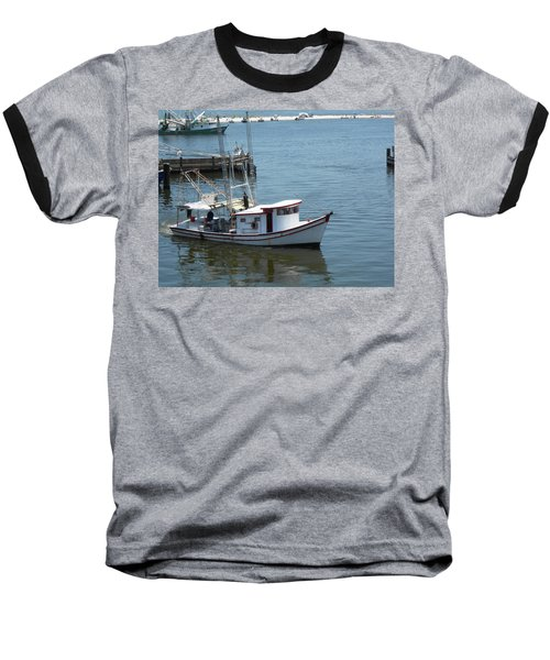 Bilouxi Shrimp Boat Baseball T-Shirt