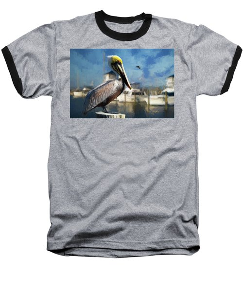 Biloxi Harbor Pelican Baseball T-Shirt