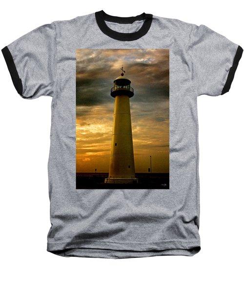 Biloxi Lighthouse Baseball T-Shirt by Scott Pellegrin