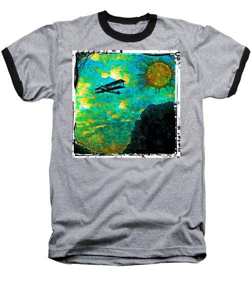 Biplane Baseball T-Shirt by Iowan Stone-Flowers