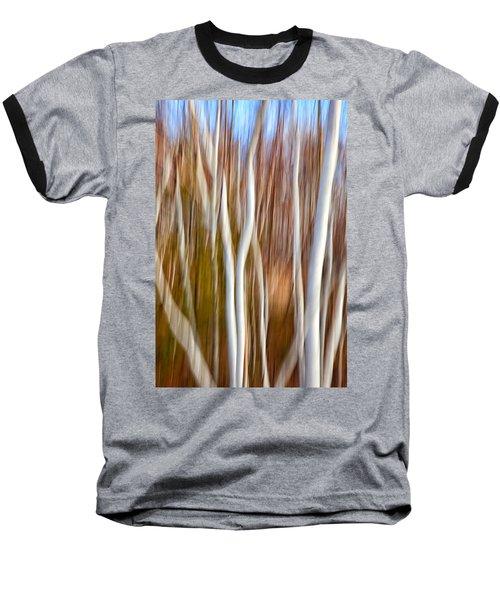 Birch Abstract No. 5 Baseball T-Shirt