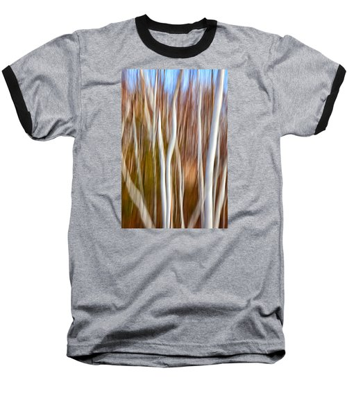 Birch Abstract No. 5 Baseball T-Shirt