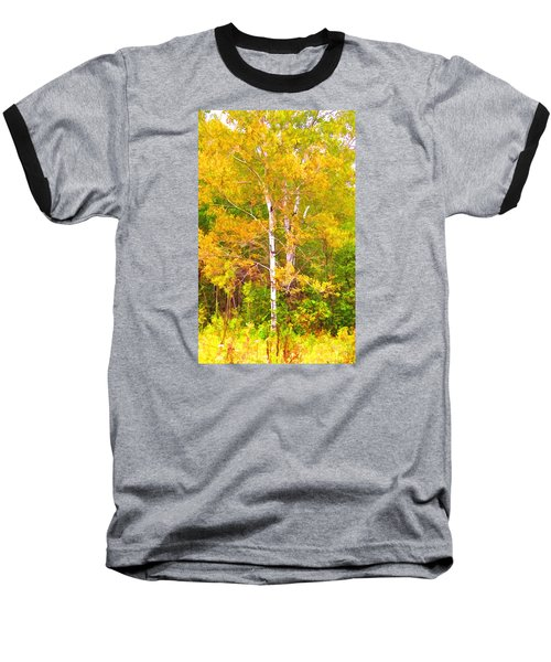Birch Afire  Baseball T-Shirt