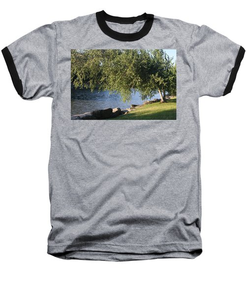 Baseball T-Shirt featuring the photograph Birch And Lake by Vadim Levin