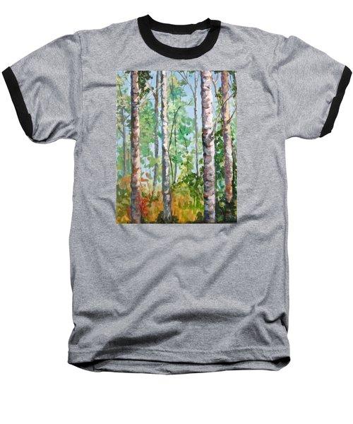 Birch Baseball T-Shirt by Barbara O'Toole