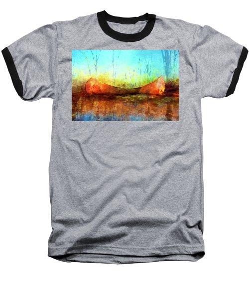 Birch Bark Canoe Baseball T-Shirt