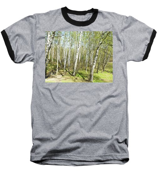 Birch Forest In Spring Baseball T-Shirt