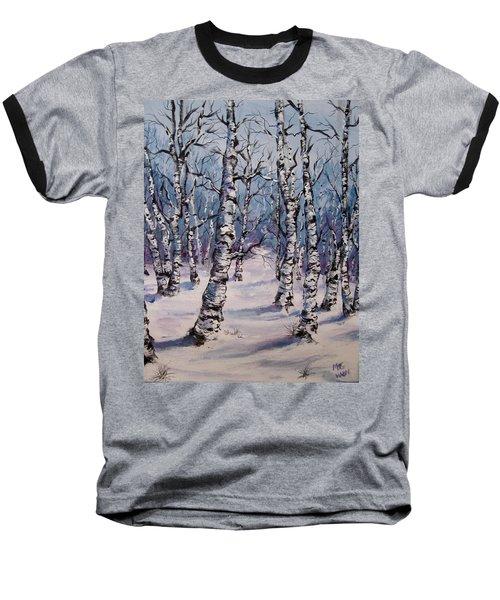 Birch Forest  Baseball T-Shirt by Megan Walsh
