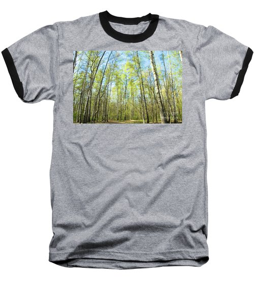 Birch Forest Spring Baseball T-Shirt
