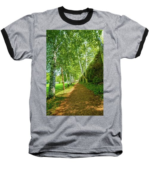 Baseball T-Shirt featuring the photograph Birch Gauntlet by Greg Fortier