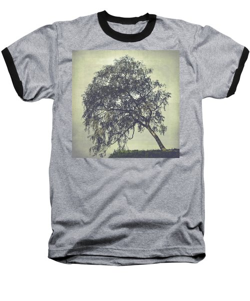 Baseball T-Shirt featuring the photograph Birch In The Mist by Ari Salmela