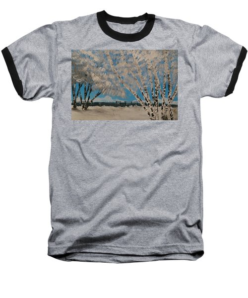 Birch Snow Baseball T-Shirt
