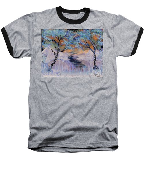 Birch Trees On The Ridge 2 Baseball T-Shirt