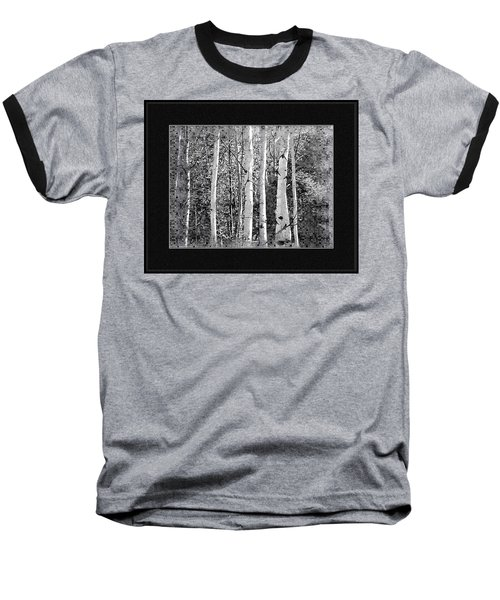 Baseball T-Shirt featuring the photograph Birch Trees by Susan Kinney