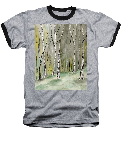 Birches Before Spring Baseball T-Shirt