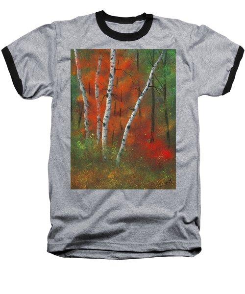 Birches II Baseball T-Shirt by Garry McMichael