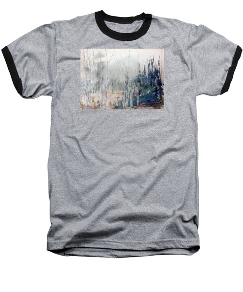 Birches In Haze  Naim's Enchatned Forest Baseball T-Shirt