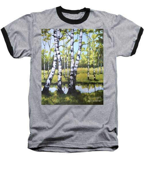 Birches In Spring Mood Baseball T-Shirt