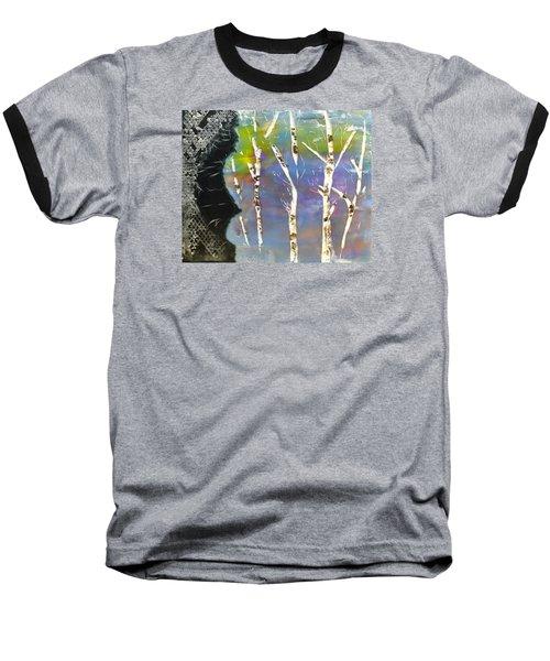 Birches In Wax Baseball T-Shirt