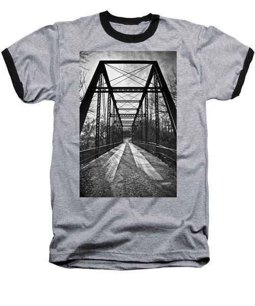 Bird Bridge Black And White Baseball T-Shirt