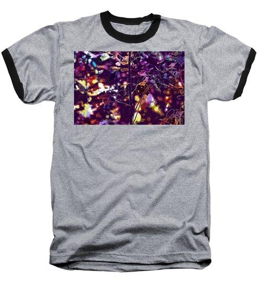 Baseball T-Shirt featuring the digital art Bird Chickadee Black  by PixBreak Art