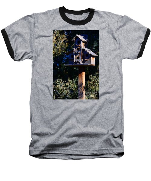 Bird Condos Baseball T-Shirt by Robert WK Clark
