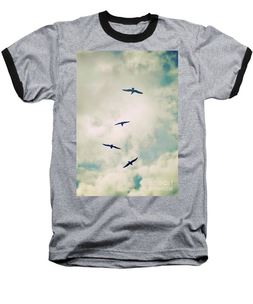 Baseball T-Shirt featuring the photograph Bird Dance by Lyn Randle