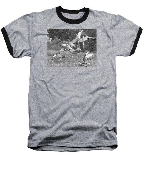 Bird Flurry Baseball T-Shirt