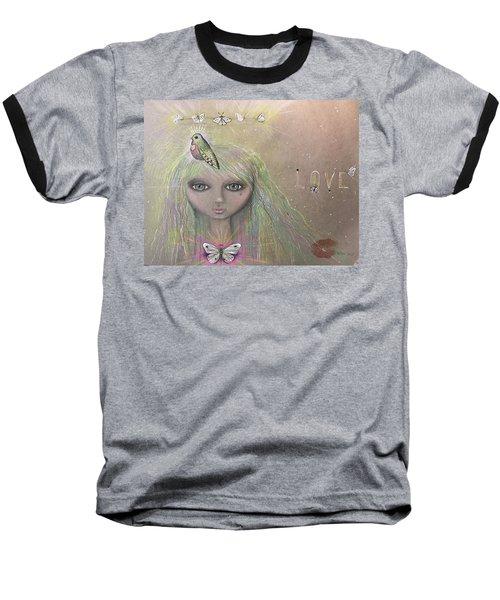 Bird From Spirit World  Baseball T-Shirt