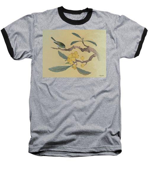 Bird In Loquat Tree Baseball T-Shirt